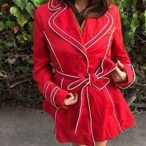 LAUNDRY BY DESIGN Red Peacoat ❤️